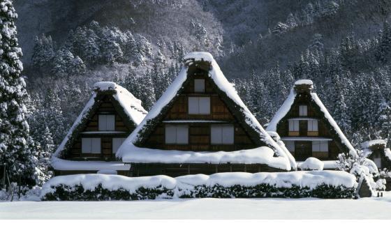 白川村の冬